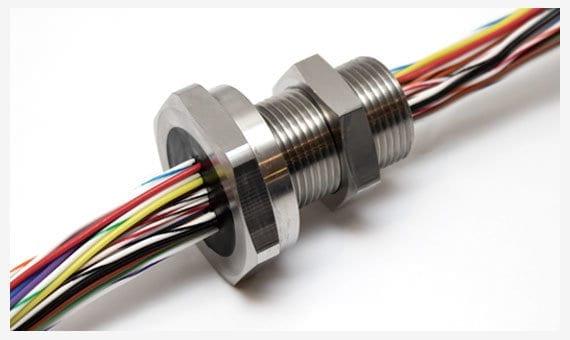 Hermetic wire feedthrough